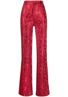 Ann Demeulemeester Daphne high rise flared trousers