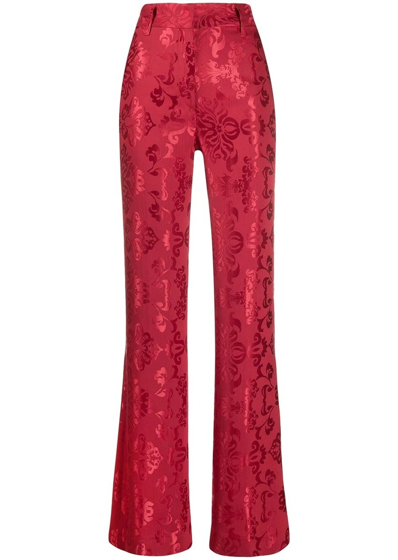 Ann Demeulemeester Daphne high rise flared trousers