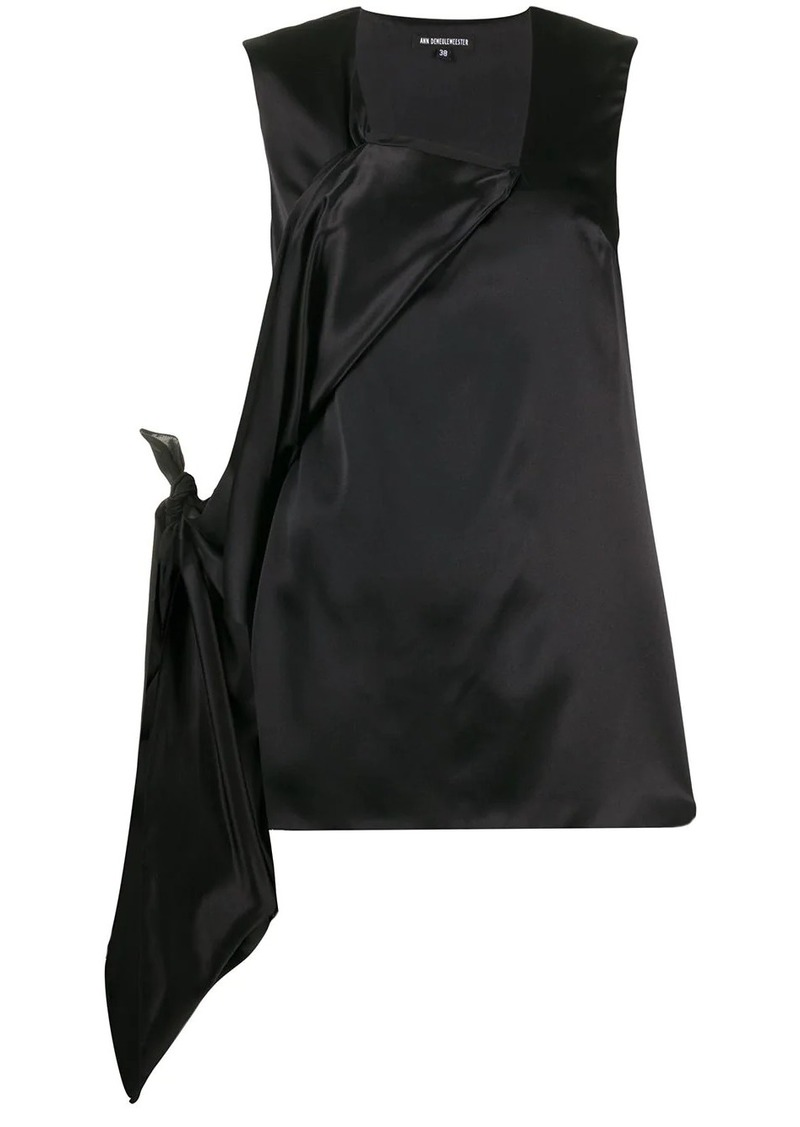 Ann Demeulemeester deconstructed sleeveless blouse