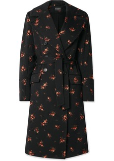Ann Demeulemeester Double-breasted Cotton-blend Jacquard Coat