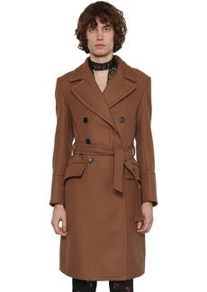 Ann Demeulemeester Double Breasted Virgin Wool Coat