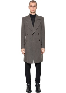 Ann Demeulemeester Double Breasted Virgin Wool Coat
