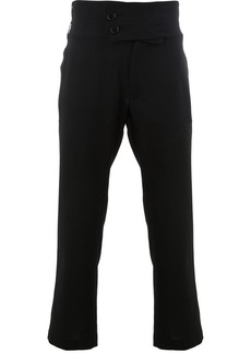 Ann Demeulemeester double-button cropped trousers