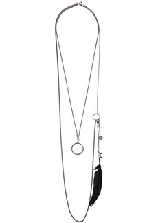 Ann Demeulemeester double chain necklace