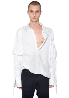 Ann Demeulemeester Double Collar Cotton Poplin Shirt
