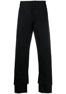 Ann Demeulemeester double hem pleated trousers