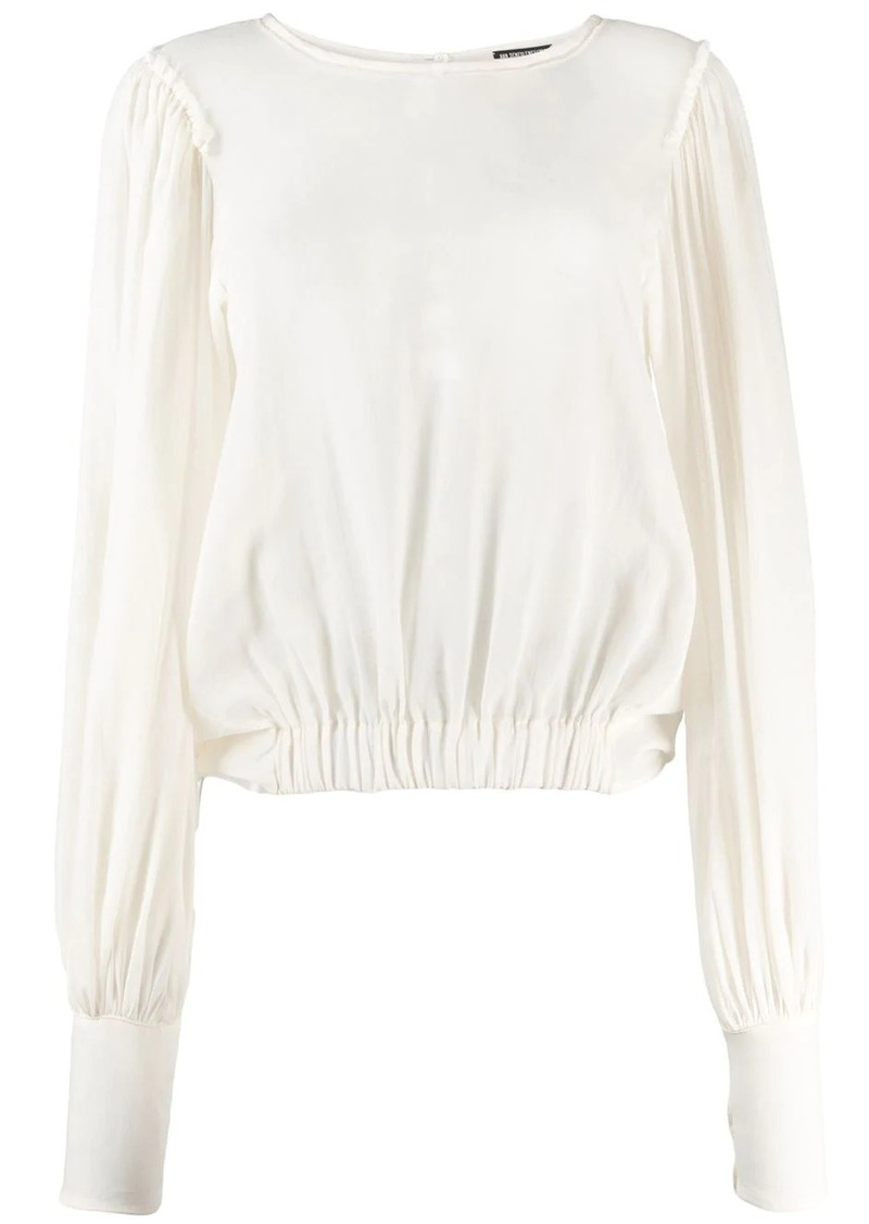 Ann Demeulemeester draped back blouse