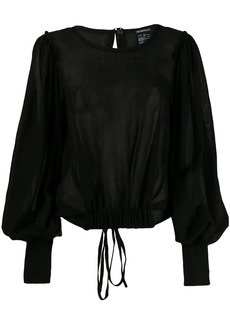 Ann Demeulemeester draped button blouse