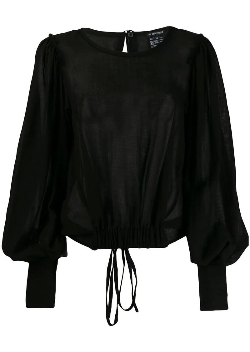 Ann Demeulemeester draped button blouse