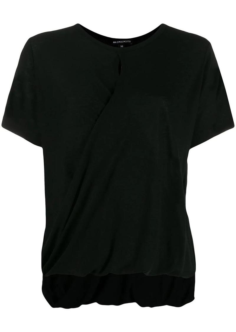 Ann Demeulemeester draped hem T-shirt