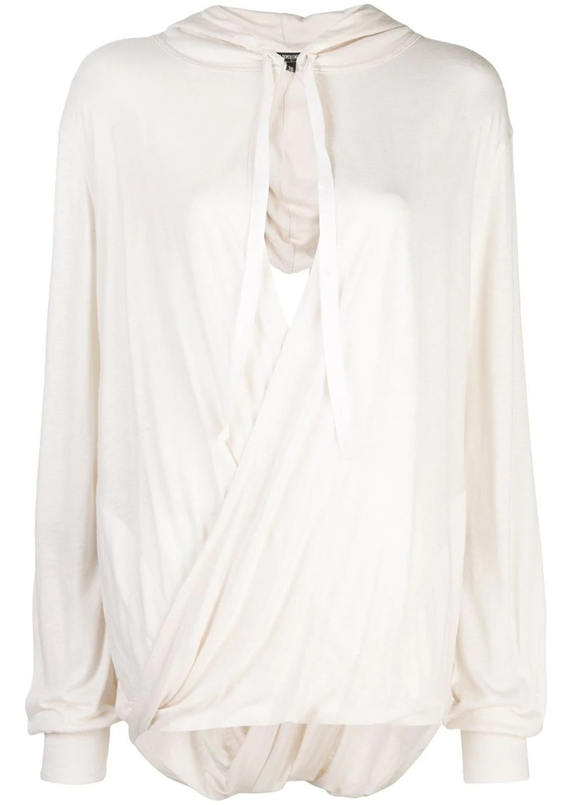 Ann Demeulemeester draped knit top