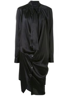 Ann Demeulemeester draped tie-neck shirt dress