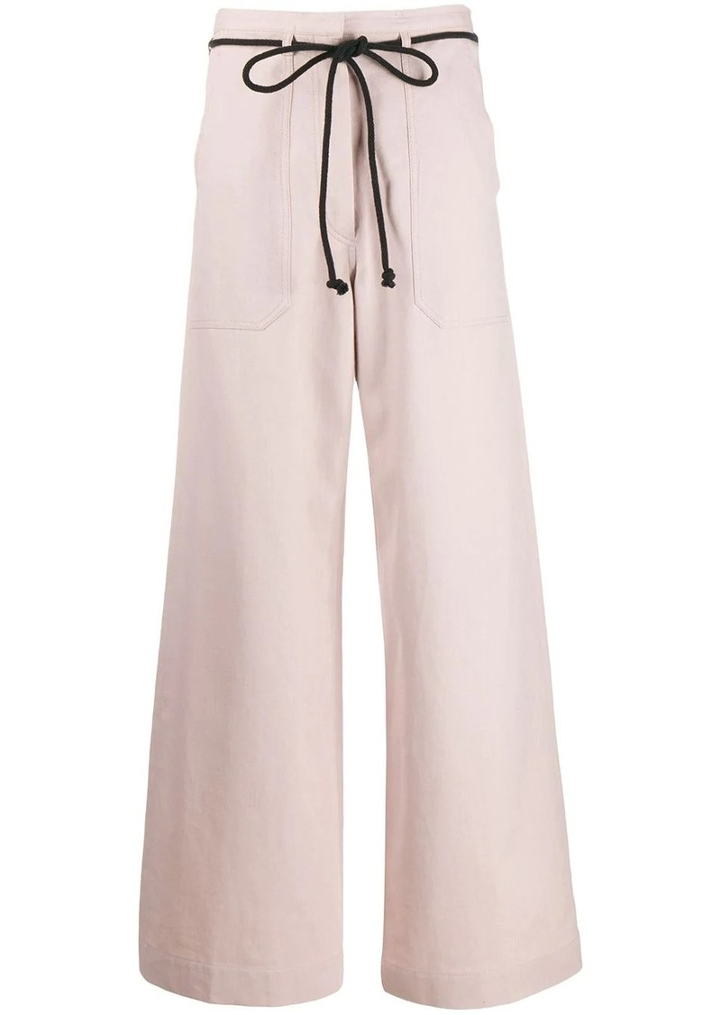 Ann Demeulemeester drawstring flared trousers