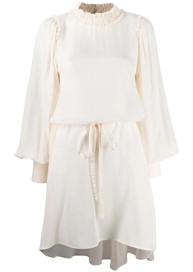 Ann Demeulemeester drawstring waist tunic