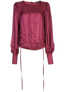 Ann Demeulemeester elasticated hem blouse
