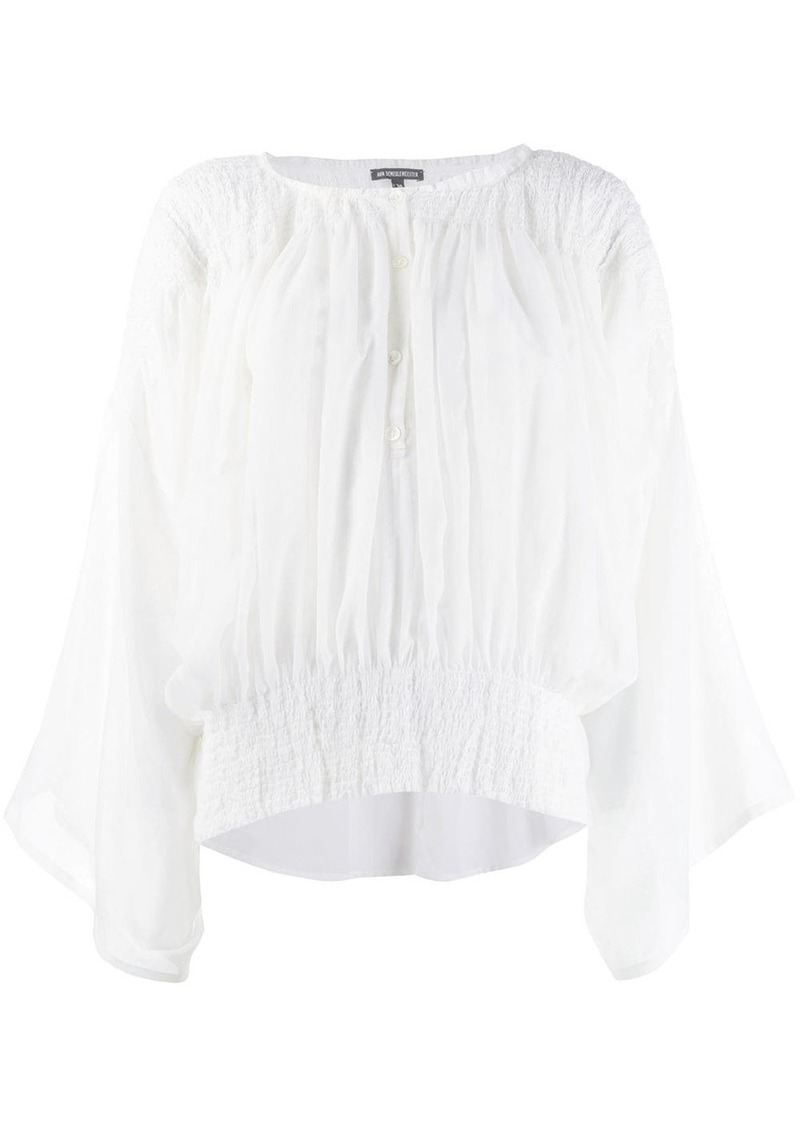 Ann Demeulemeester elasticated panel blouse