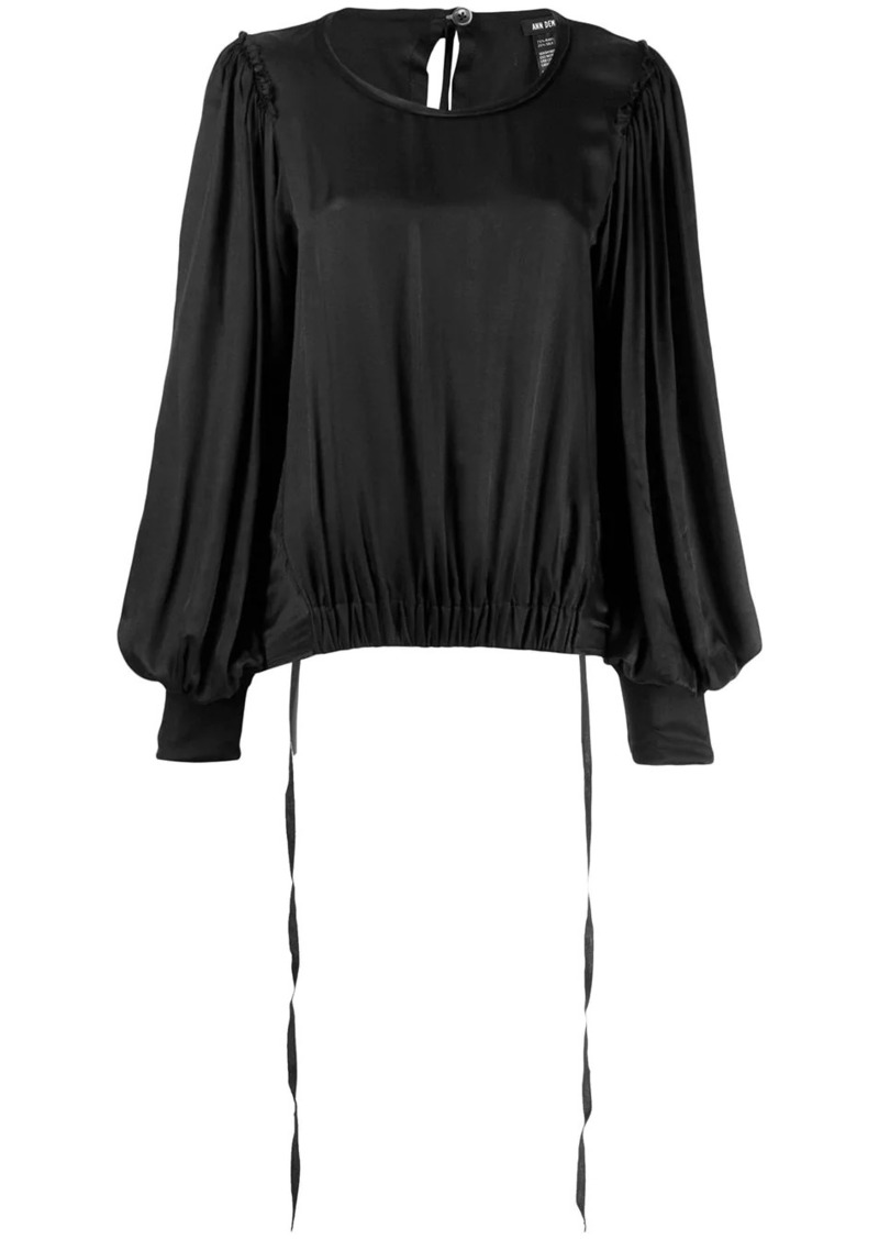 Ann Demeulemeester elasticated waist blouse