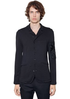 Ann Demeulemeester Embroidered Cotton Blend Jersey Jacket