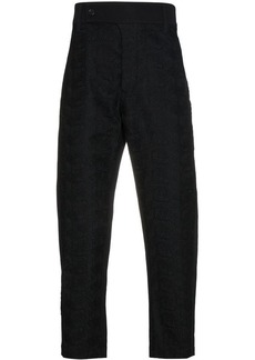 Ann Demeulemeester embroidered cropped trousers