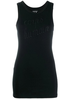Ann Demeulemeester embroidered tank top