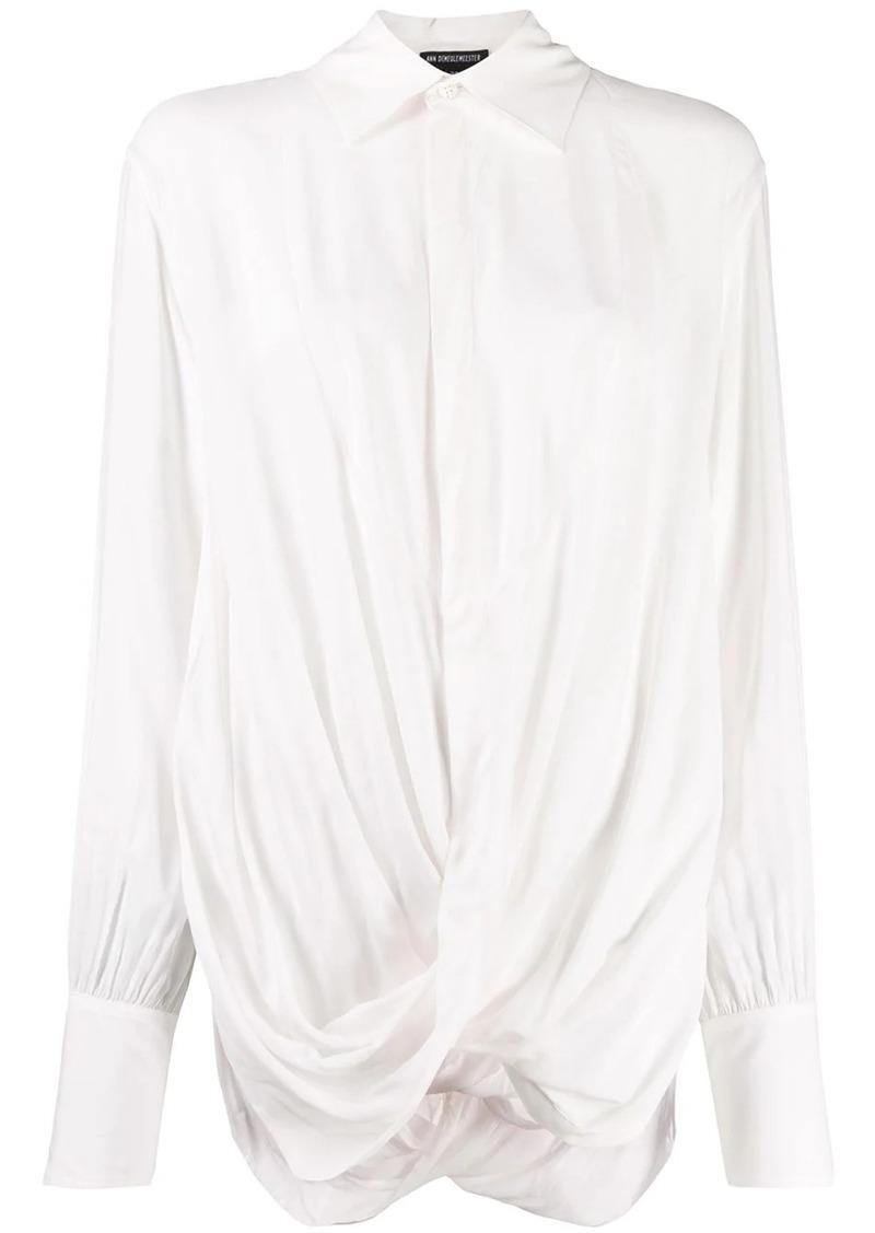 Ann Demeulemeester Ewing twisted-detail shirt