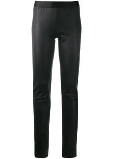 Ann Demeulemeester fitted grained leggings