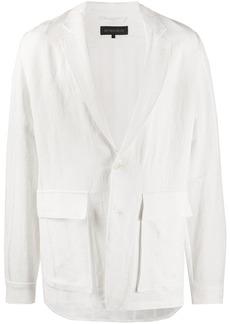 Ann Demeulemeester flap-pocket oversize blazer