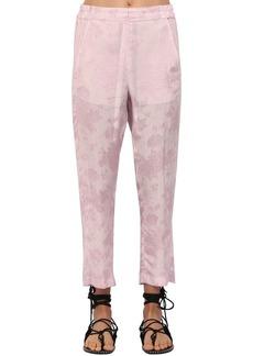 Ann Demeulemeester Floral Jacquard Pants