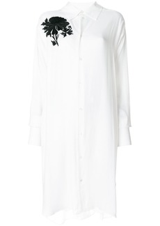 Ann Demeulemeester floral patch shirt dress