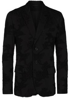 Ann Demeulemeester floral-print single-breasted blazer jacket
