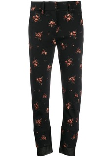Ann Demeulemeester floral print cropped trousers