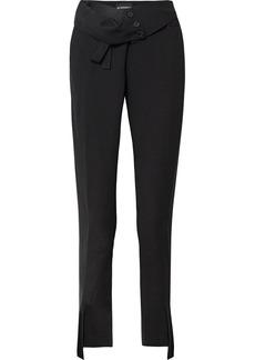 Ann Demeulemeester Fold-over Crepe Straight-leg Pants