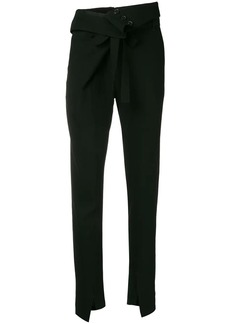 Ann Demeulemeester foldover waistband trousers