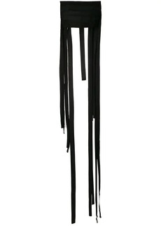 Ann Demeulemeester fringed strapless top