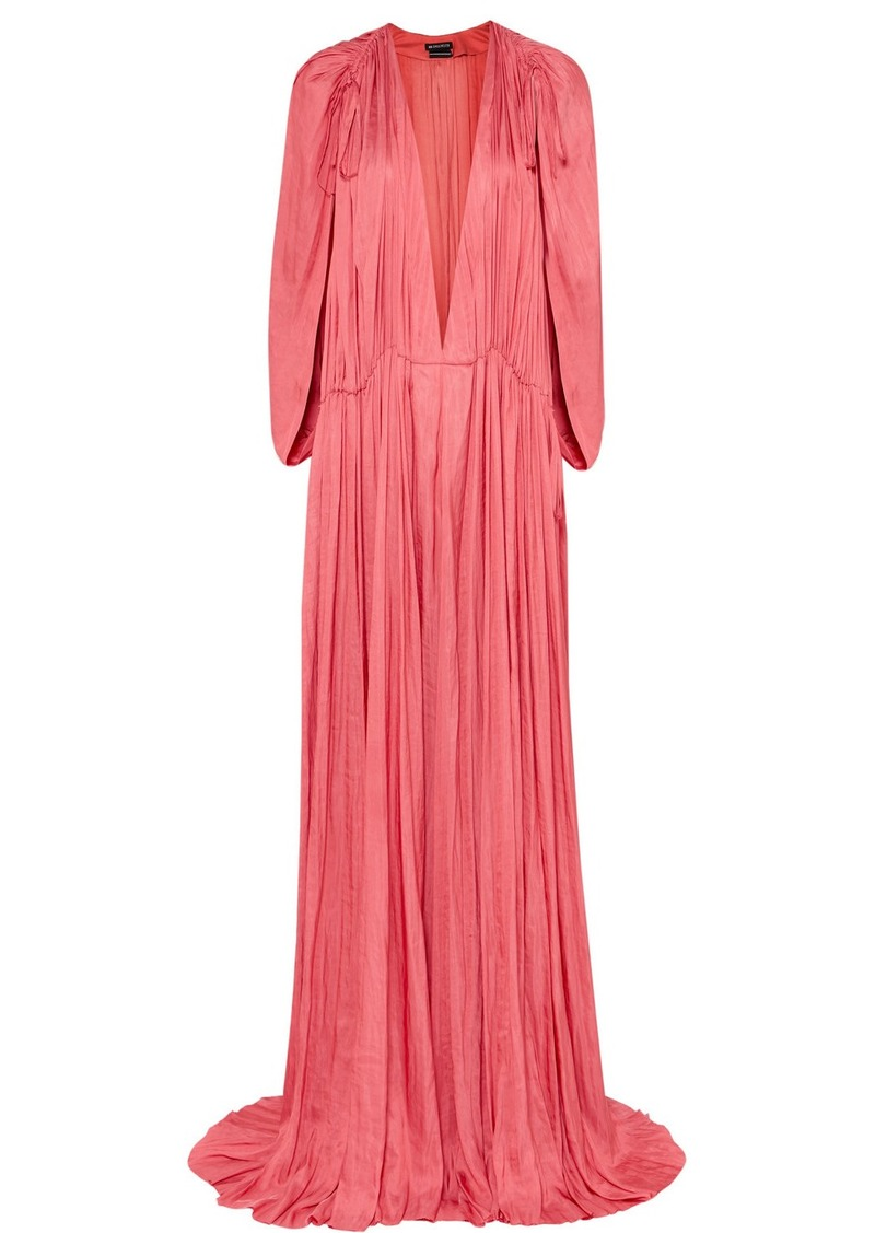 Ann Demeulemeester Gathered Habotai Maxi Dress