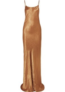 Ann Demeulemeester Hammered-satin Maxi Dress
