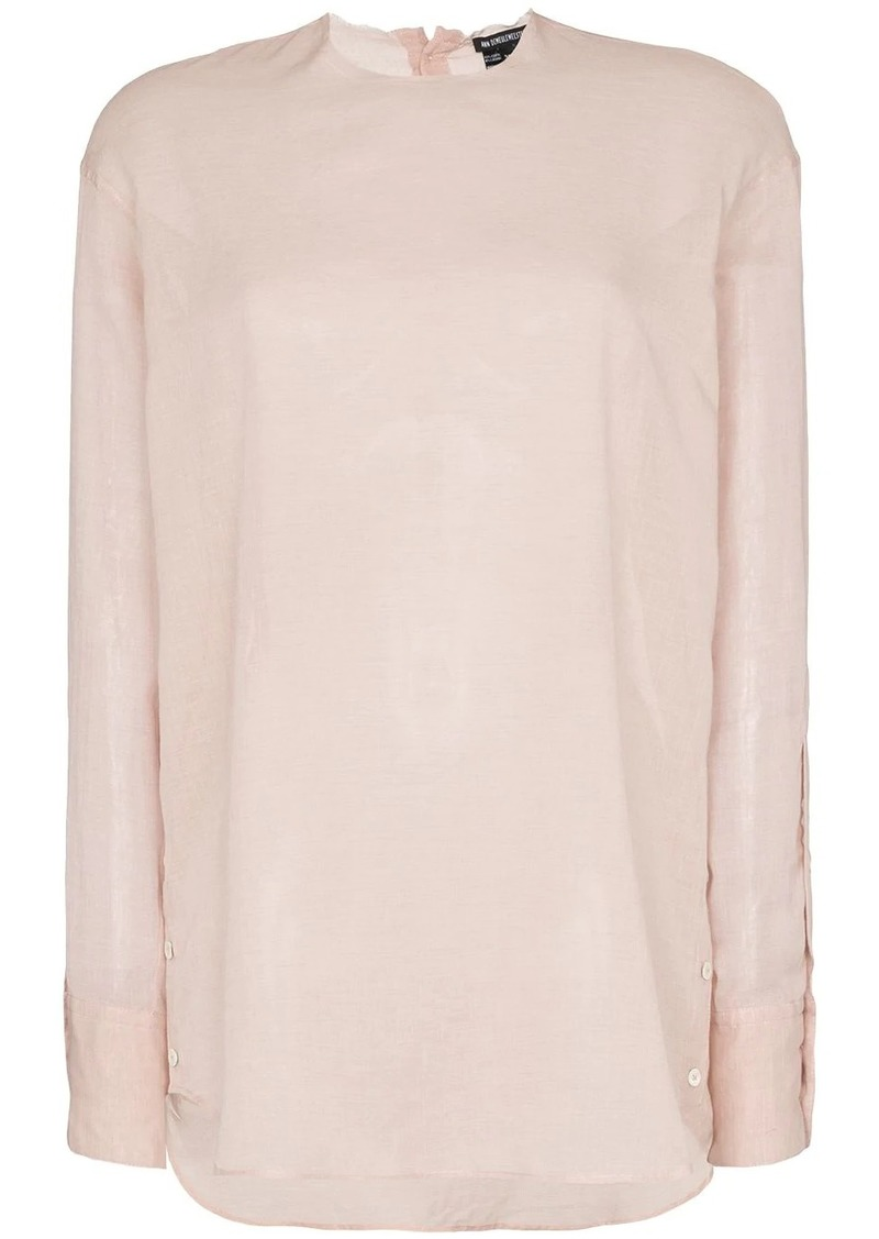 Ann Demeulemeester high neck side button top
