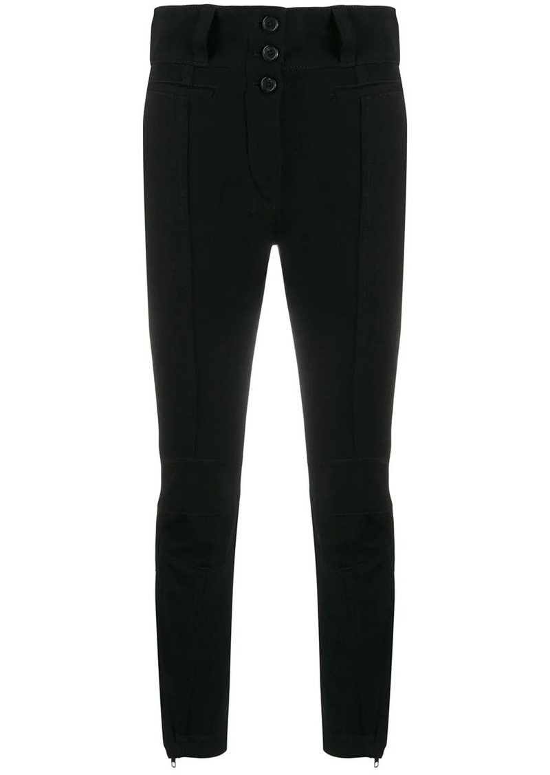 Ann Demeulemeester high-waist fitted trousers