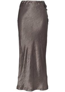 Ann Demeulemeester high-waisted silk midi skirt