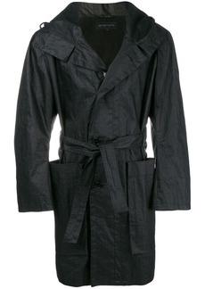 Ann Demeulemeester hooded belted coat