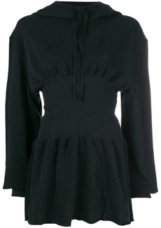 Ann Demeulemeester hooded corset dress