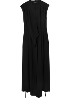 Ann Demeulemeester Hooded Crepe Maxi Dress