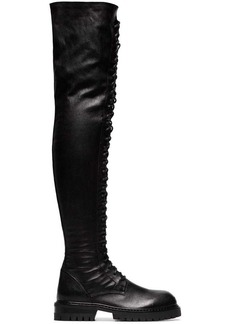 Ann Demeulemeester knee-length lace-up leather boots