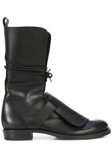 Ann Demeulemeester lace-up mid-calf boots