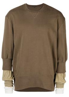 Ann Demeulemeester layered sweatshirt
