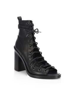 Ann Demeulemeester Leather Lace-Up Sandals