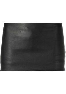 Ann Demeulemeester leather mini skirt