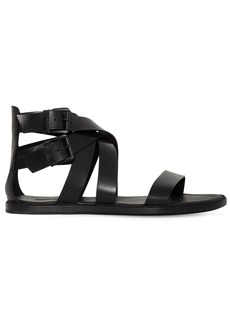 Ann Demeulemeester Leather Sandals W/ Buckles