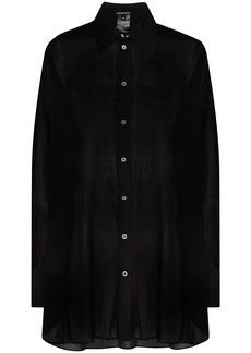 Ann Demeulemeester oversized semi-sheer shirt