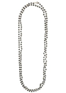 Ann Demeulemeester long crystal chain necklace